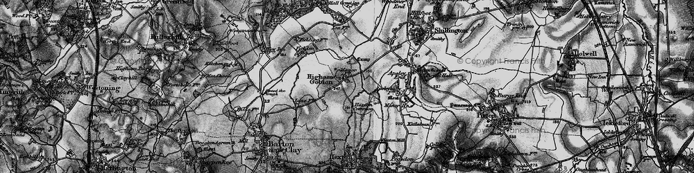 Old map of Westhey Manor in 1896