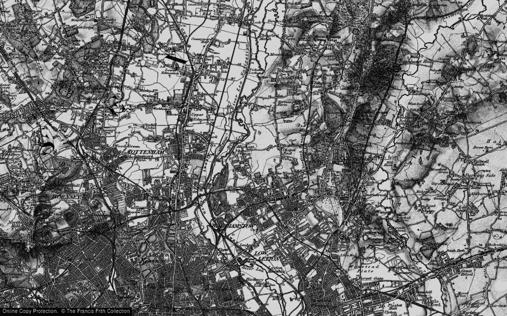Old Map of Historic Map covering Banbury Resr in 1896