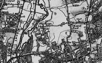Old map of Banbury Resr in 1896