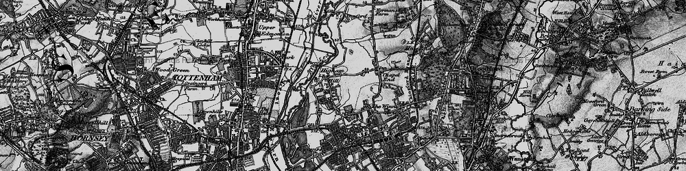 Old map of Higham Hill in 1896