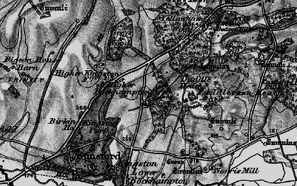 Old map of Higher Bockhampton in 1897