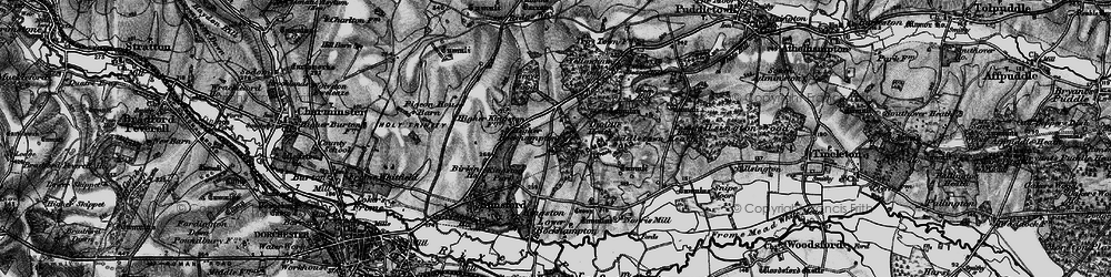 Old map of Yellowham Wood in 1897