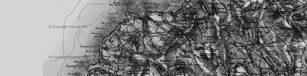 Old map of Woon Gumpus Common in 1896