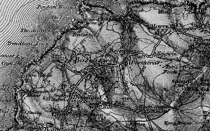 Old map of Wheal Bal Hill in 1896