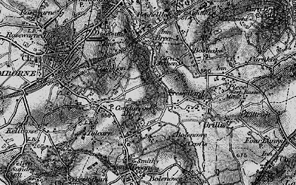 Old map of Higher Condurrow in 1896