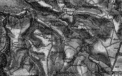 Old map of Higher Crackington in 1896