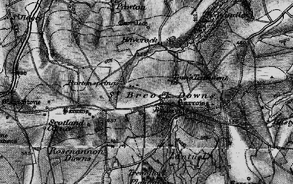 Old map of Higher Cransworth in 1895