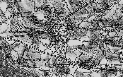 Old map of Higher Downs in 1895