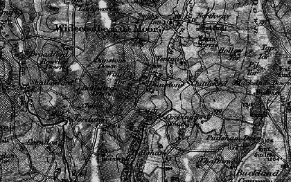 Old map of Wind Tor in 1898