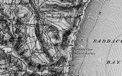 Old map of Babbacombe Bay in 1898