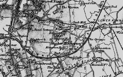 Old map of Babylon in 1897