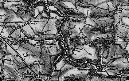 Old map of Higher Larrick in 1895