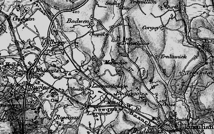 Old map of Higher Menadew in 1895