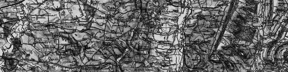 Old map of Tipton Cross in 1898