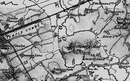 Old map of Abbey Ford Br in 1898
