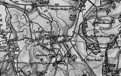 Old map of White House Common in 1898