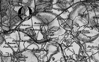 Old map of Higher Town in 1895