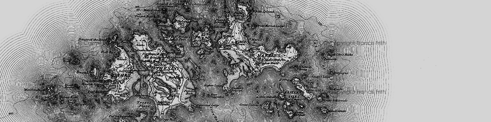 Old map of Eastern Isles in 1896