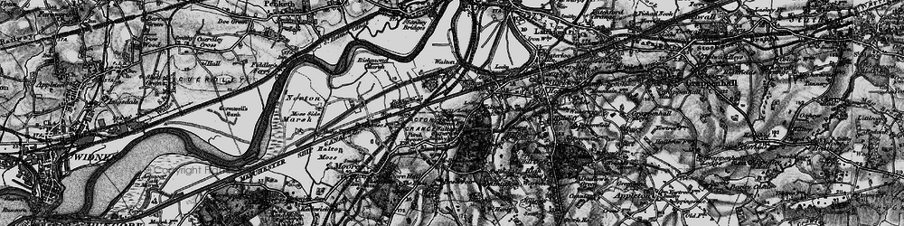 Old map of Higher Walton in 1896