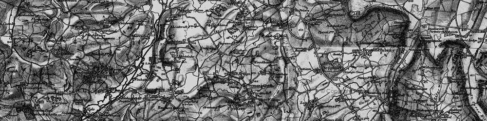 Old map of Woodbeer Court in 1898