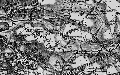 Old map of Wincham Hall (Hotel) in 1896