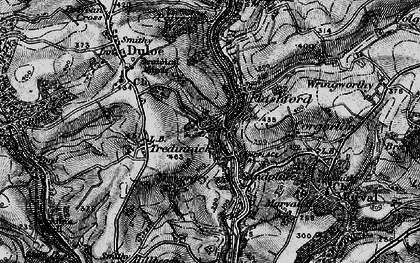 Old map of Highercliff in 1896