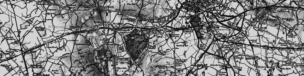 Old map of Winstanley Hall in 1896