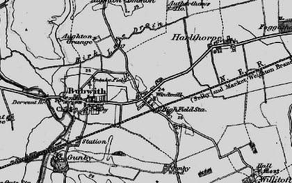 Old map of Aughton Common in 1898