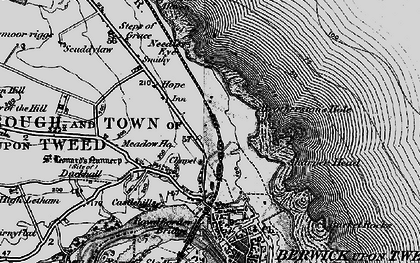 Old map of Letham Shank in 1897