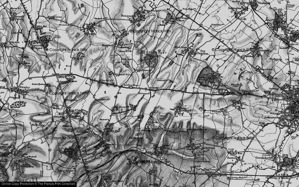 Old Map of Highfields, 1898 in 1898