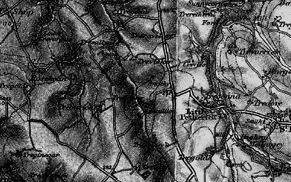 Old map of Highlanes in 1895
