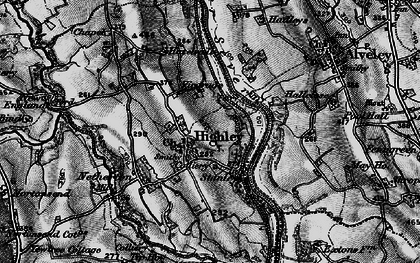 Old map of Highley in 1899