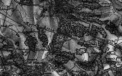Old map of Westleaze Cottages in 1895