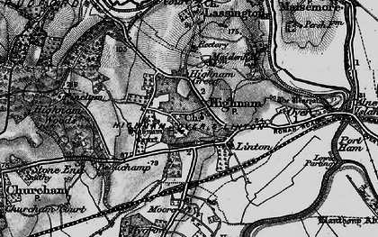 Old map of Highnam in 1896