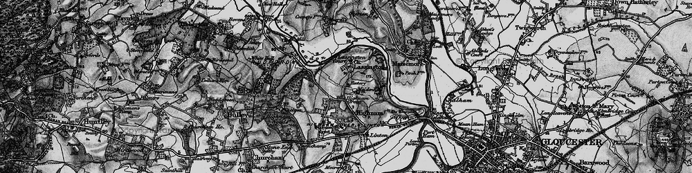 Old map of Lassington in 1896