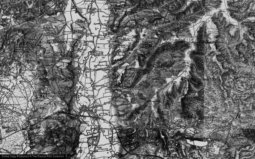 Old Map of Highwood, 1895 in 1895