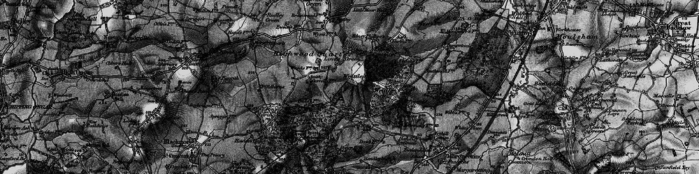 Old map of Writtle Park in 1896
