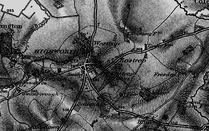 Old map of Highworth in 1896