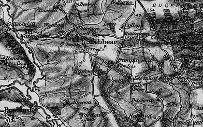 Old map of Aish in 1895