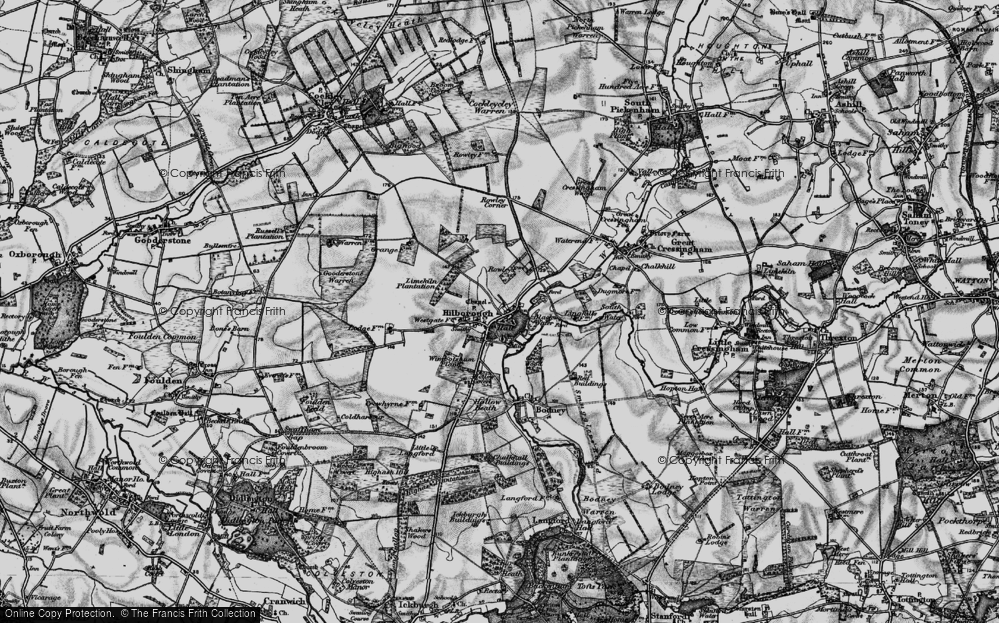 Old Map of Historic Map covering Limekiln Platation in 1898