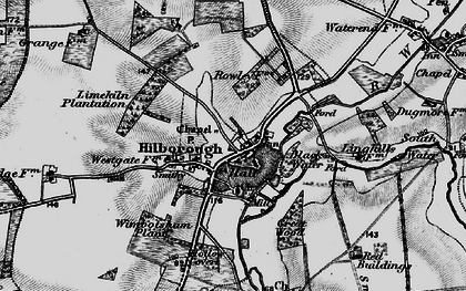 Old map of Wimbotsham Plantn in 1898