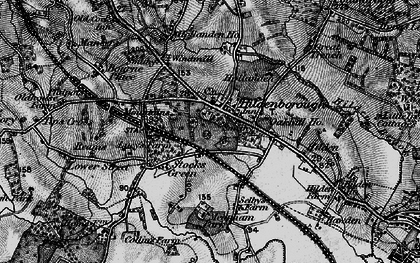 Old map of Alexander Ho in 1895