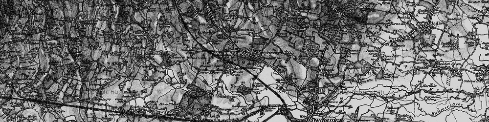 Old map of Hildenborough in 1895
