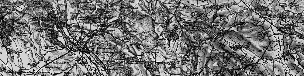 Old map of Wooliscroft in 1897