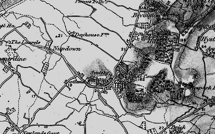 Old map of Hill in 1897