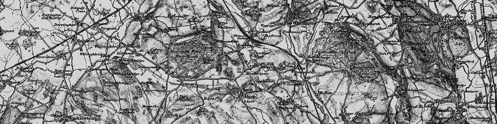 Old map of Whitemore Heath in 1897
