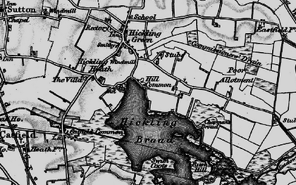 Old map of White Slea in 1898