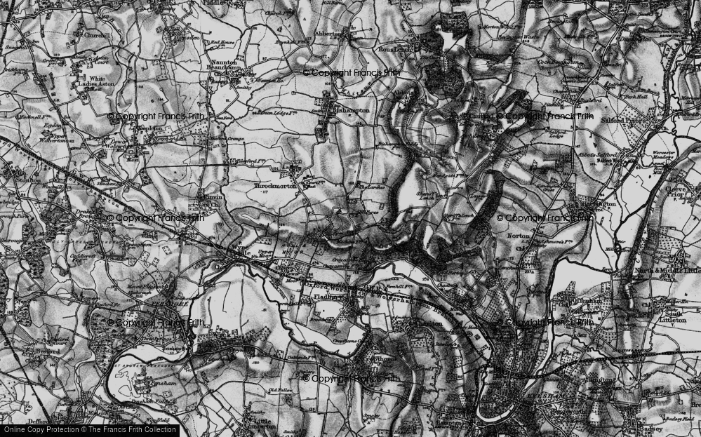 Old Map of Historic Map covering Badger's Hill in 1898