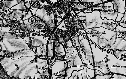 Old map of Attleborough in 1899