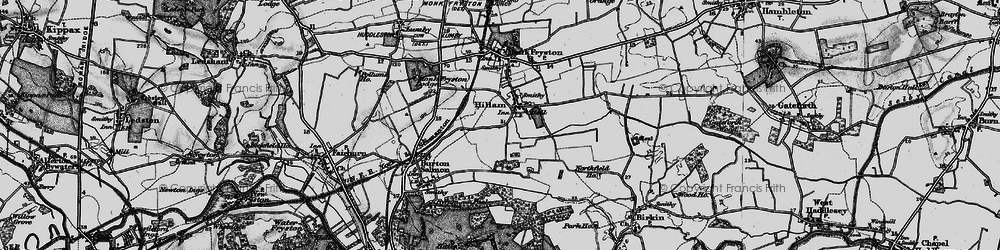 Old map of Hillam in 1895